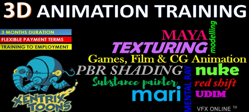 Xentrix Toons 3D Animation Training – VFX ONLINE